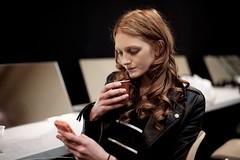 Model Aine O'Gorman. Junko Shimada Spring Summer 2013 Fashion Show.