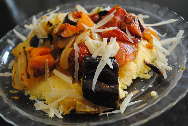 image roasted vegetables polenta