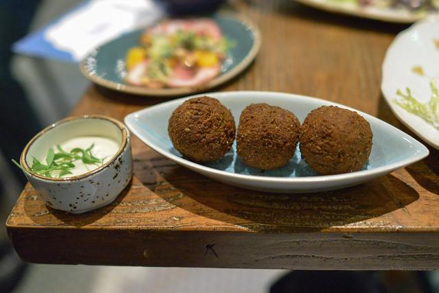 Falafel Croquettes truffle tahini