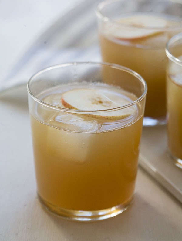 Pear and Ginger-Sage Cocktail | www.acozykitchen.com