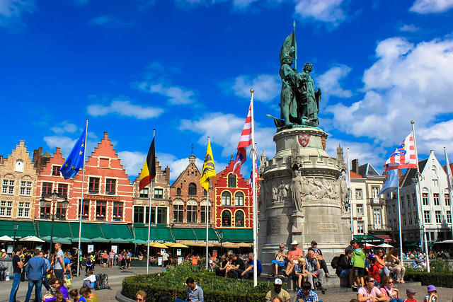 The Markt, Bruges by CC user andyhay on Flickr