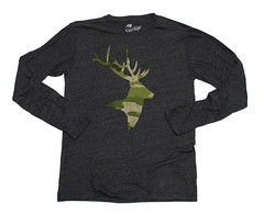 Sportiqe Camo Rack Long Sleeve Comfy T-Shirt