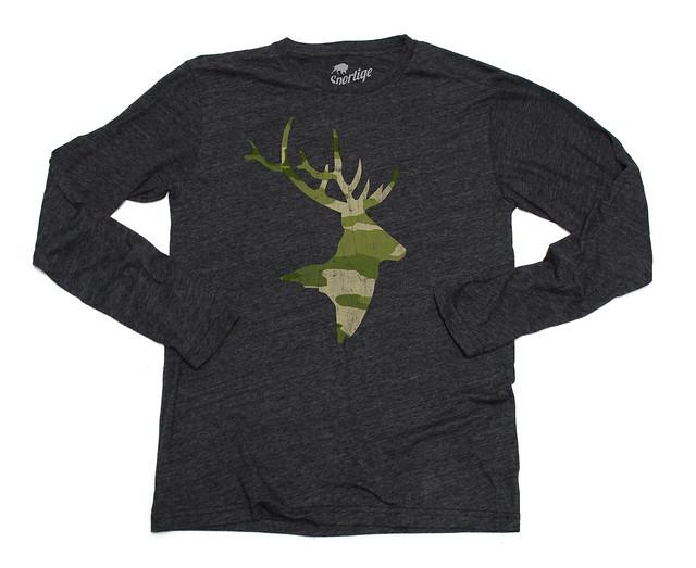 Sportiqe Camo Rack Long Sleeve Comfy T-Shirt