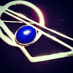 Vintage Sterling Silver Lapis Luzuli Art Deco Geometric Brooch  http://bit.ly/1atqcbl  #deco #design #lapis #silver #brooch #jewellery #sparkle #style  http://bit.ly/1atqcbl