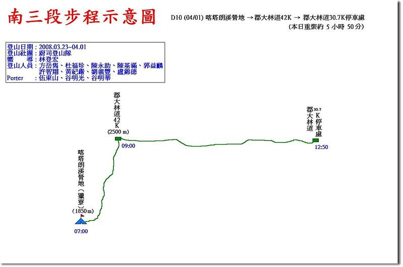 南三段步程示意圖(10)