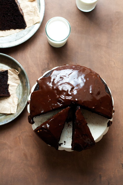 Simple Chocolate Cake with Ganache