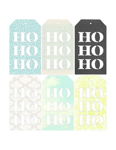 Free 'Ho Ho Ho' tag printable WITH PENCIL LINES