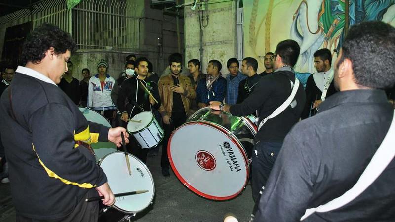 102 banda de tambores Dia 01 Ashura Teheran (24)