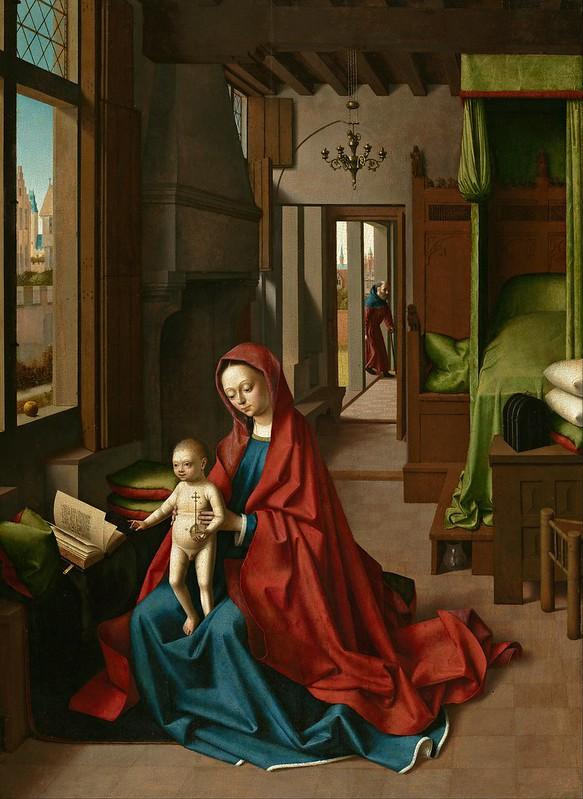 Petrus Christus - Virgin and Child in a Domestic Interior (c.1460)