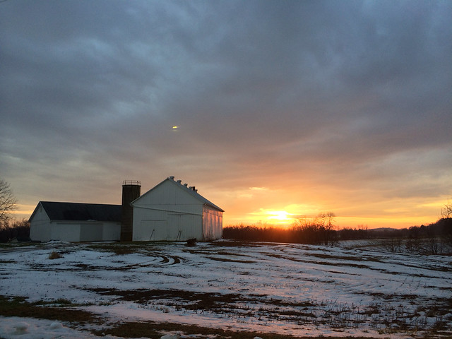 2013.12.21 - sunset, barn