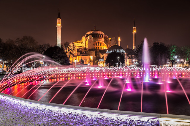 Agya Sofia at night