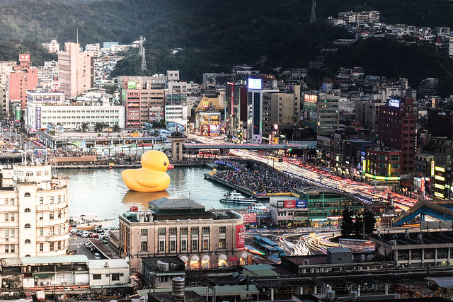 [DayToNight]基隆港黃色小鴨
