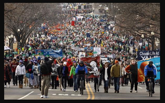 El papa reza por la Marcha por la Vida en Washington