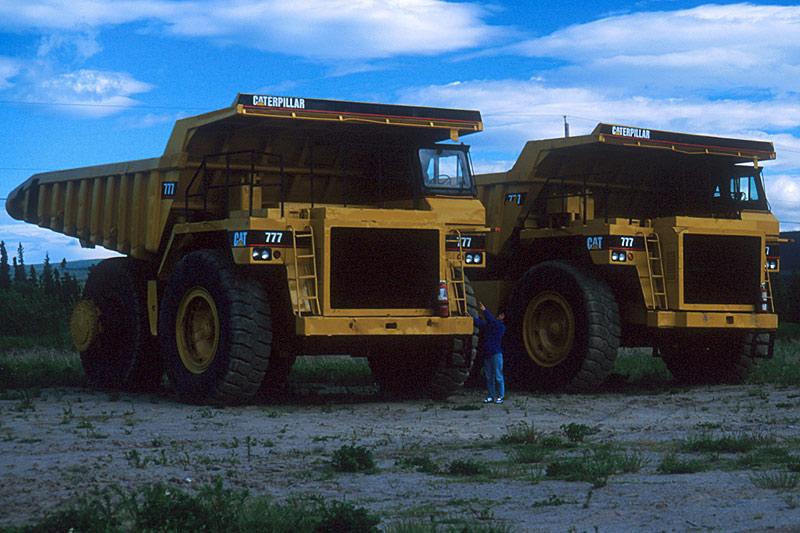 Coal Trucks, Tumbler Ridge, Northern British Columbia, Canada