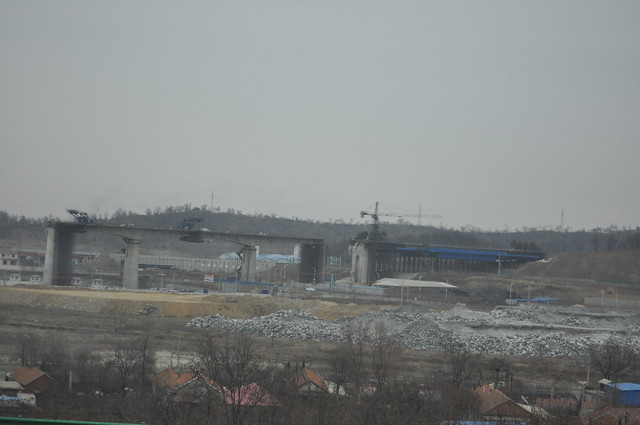 A bridge under construction