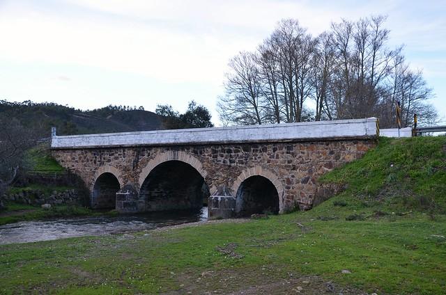 Roman Bridge, Ponte do Coadouro near Mação, Portugal, built between 1st century BC and 1st centuray AD