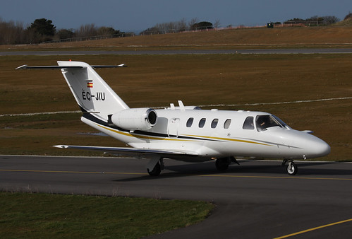 EC-JIU Cessna 525 CitationJet CJ-1 by Guernsey Airport Photography
