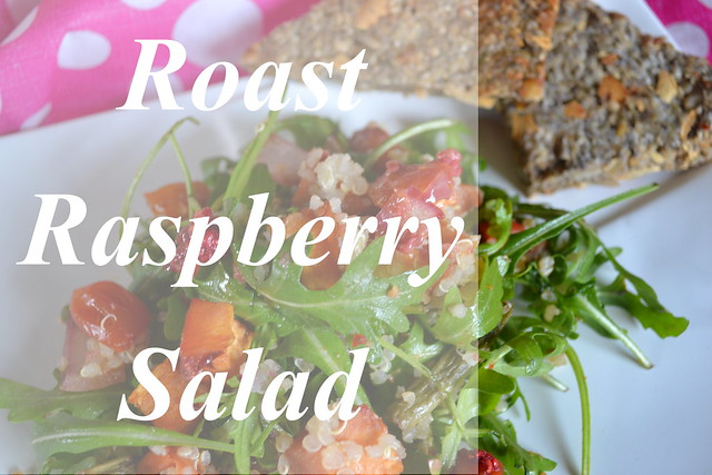 Roast Raspberry Salad title