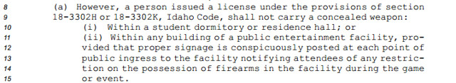 SB 1254 Gun Prohibition within Dormatories
