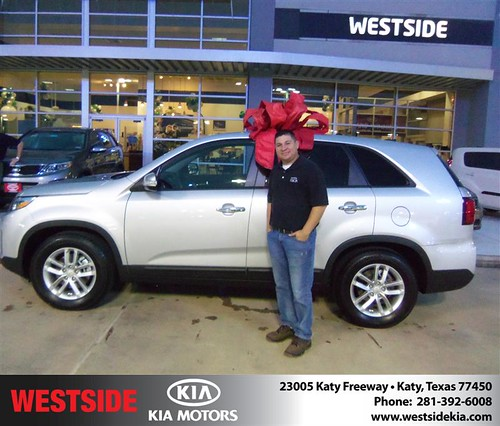Happy Anniversary to William Lopez on your 2014 #Kia #Sorento from Fernandez Jorge and everyone at Westside Kia! #Anniversary by Westside KIA