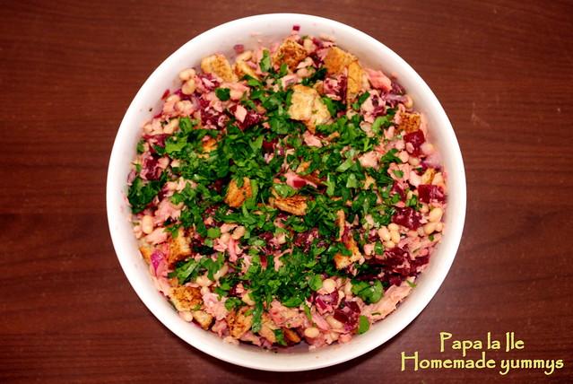 Salata cu fasole boabe si ton (6)