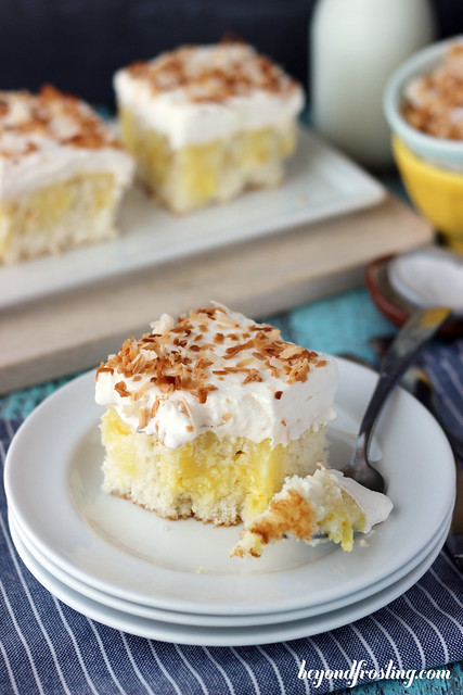 Triple Coconut Poke Cake | 25 Christmas Potluck Recipes for Your Office Party