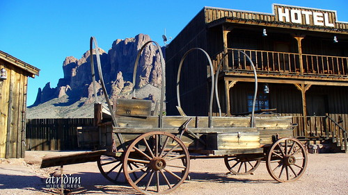 Mining Camp at Superstition Mountain, Arizona