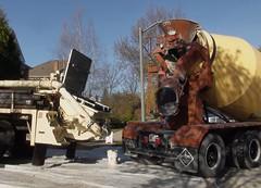 vehicle, transport, concrete mixer, construction equipment,