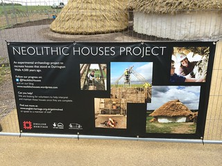 Stonehenge Neolithic huts - interpretation panel