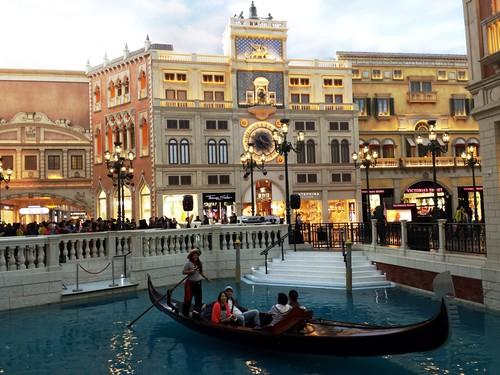 Macau The Venetian gondola