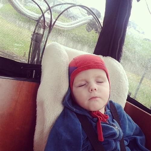 Schlafen kann man im #babboe  übrigens auch super. Ohne nervigen Schlauch in der Nase und bei regentröpfelgeräuschen gleich dreimal so gut.