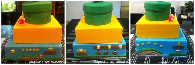 Mario Bross Cake Collage 2