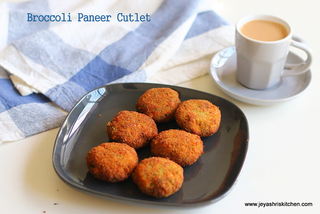 Broccoli+paneer- cutlet