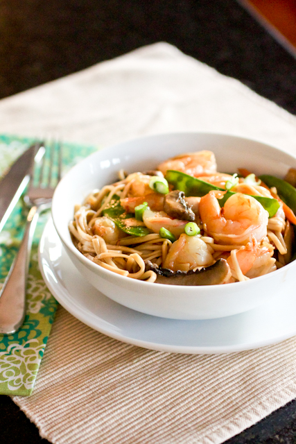 take out fake out shrimp lo mein