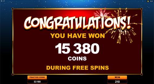 Lucky Firecracker Free Spins Win