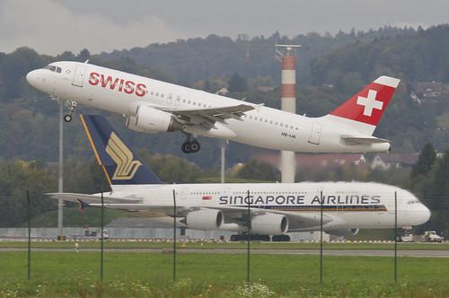 Swiss Airbus A320-214; HB-IJK@ZRH;10.10.2014/764ae
