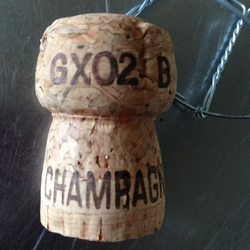 Champagne. Champagne cork.