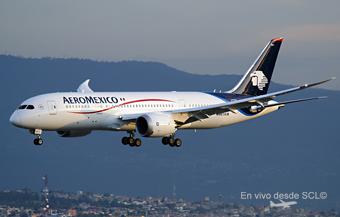 Aeromexico B787-8 app en MEX (Ricardo Morales)