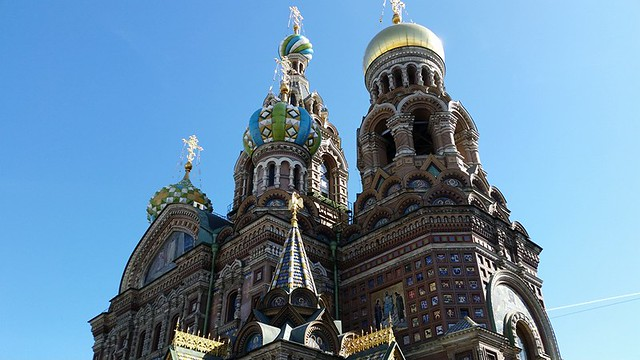 Church of the Spilled Blood in St. Petersburg Russia