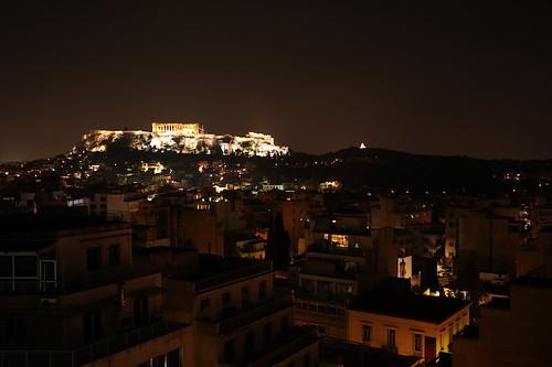 Acropoli di notte