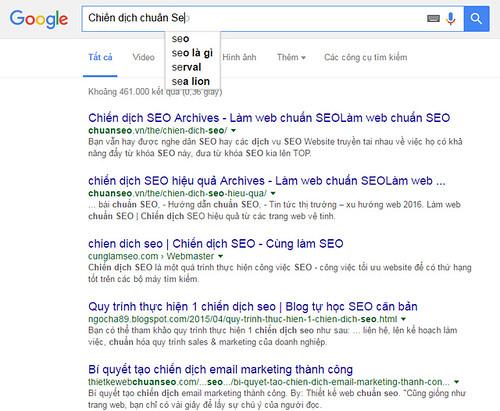 Xác định từ khóa Seo từ gợi ý tìm kiếm Google