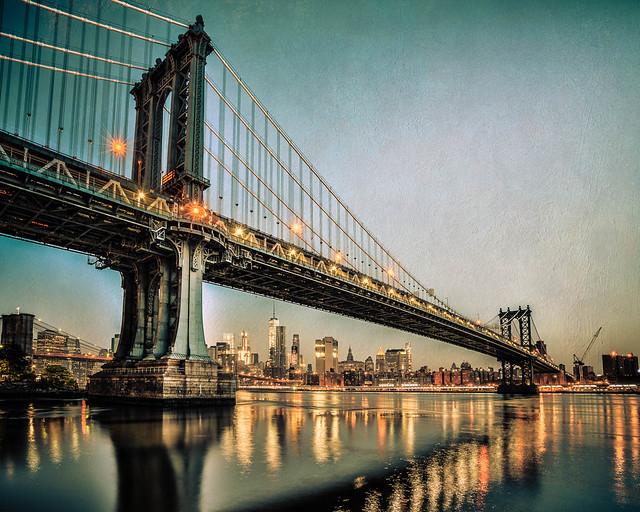 Manhattan Bridge, from DUMBO, Brooklyn, NY, USA