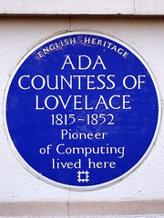 Photo of Augusta Ada King blue plaque