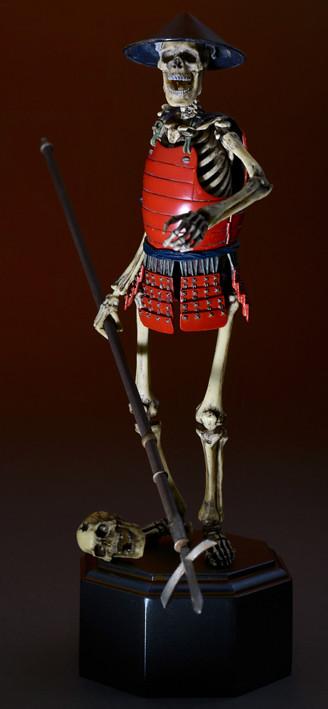 TAKEYA式自在置物「骸骨武者 著彩版」タケヤ式自在置物 骸骨武者 着彩