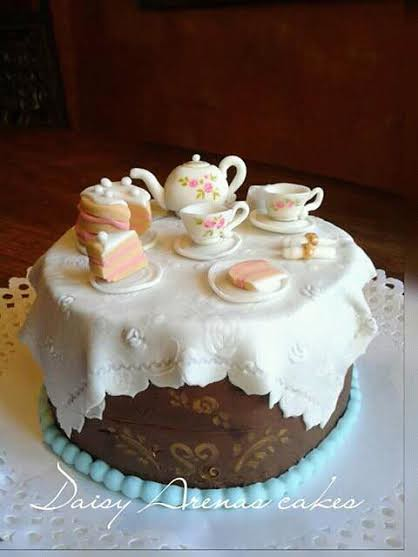 Tea Time Lovely Cake by Daisy Arenas Cakes