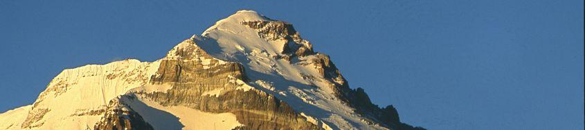 Expedition Aconcagua, 6962 m, mit Polengletscher. Foto: Adi Mezger.