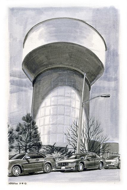 water tower, Federal Heights