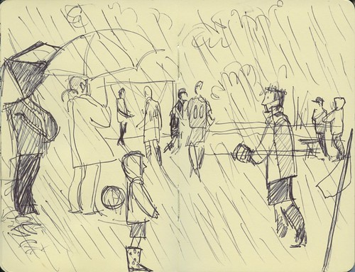 soccer in the rain by Bricoleur's Daughter