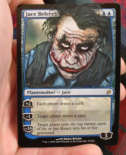 Jace Beleren Altered Art Magic the Gathering Card Art MTG Card Artwork The Dark Knight Joker Batman art The Dark Knight Rises Concept art Magic card alters Jace mtg artwork Jace Beleren Magic Planeswalker Jace Magic