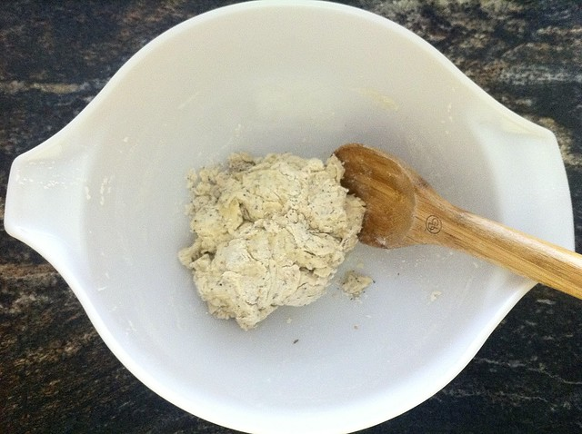 Cracker Dough Before Kneading